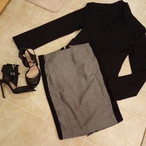 Bebe back zipper pencil skirt